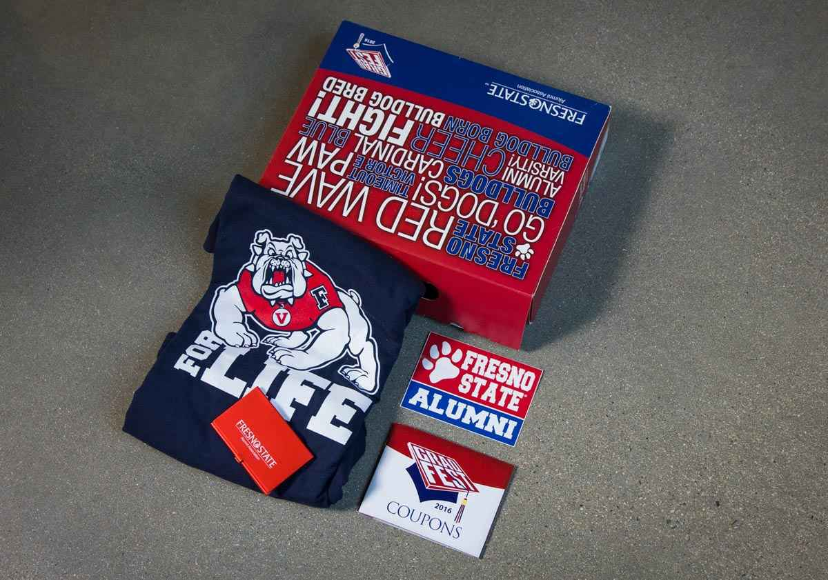 Fresno State Grad Box College Student and Alumni Gift Packages